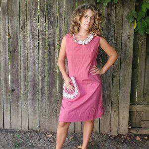 vintage 1960s pink dress by Mardi Modes